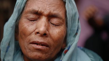 Sufia Begum, a Rohingya who crossed over to Bangladesh from Myanmar's Rakhine state in November.