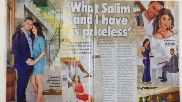 Salim Mehajer and wife Aysha as they appear in the October 19 edition of <i>New Idea</i>.