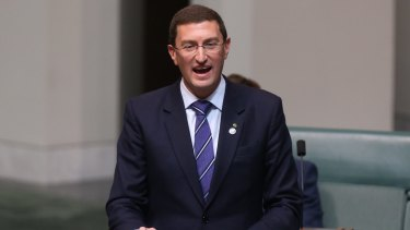 Julian Leeser delivers his first speech at Parliament House on Wednesday.