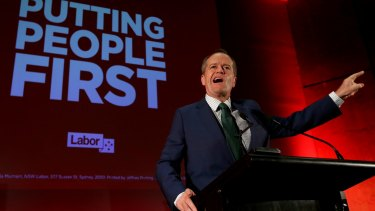 Opposition Leader Bill Shorten addresses the Labor Supporters Network rally at the University of Western Sydney School of Medicine in Campbelltown, NSW.