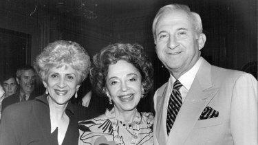 Betty Sembler, Lady (Mary) Fairfax and American ambassador, Mel Sembler. February 25, 1993.