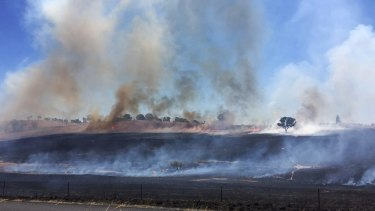 Fires burn in Orange on Saturday.