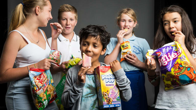 Taste testers: Rebecca Jones, Reid Jones, Luca Portwin, Phoebe Myers and Juna Elliott.