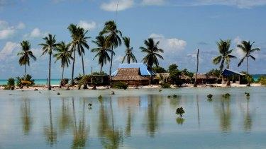 Rising sea levels are a significant threat to Kiribati.