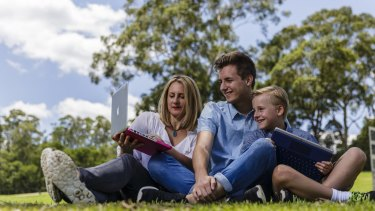 """School parent Jeanette, mother of Cameron, 17, Jeremy, 8, and Jacinta (not pictured), says buying devices under BYOD schemes is a """"huge expense""""."""