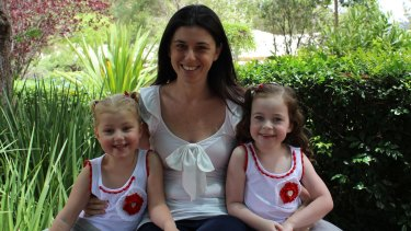 Former police officer Amy Shaw,  with her daughters Molly and Ella.