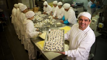 Pierre Issa, founder of Australian butter company Pepe Saya, hand churns about five tonnes of butter a week with his 22 staff.
