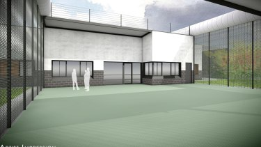 An artist impression of the inside of the new youth prison to be built in Werribee South