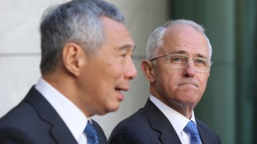 Prime Minister Malcolm Turnbull and Prime Minister Lee Hsien Loong of Singapore have strongly supported the Trans Pacific Partnership.