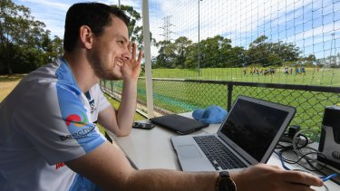 Screen gems: Sydney FC analyst Doug Kors gives the coaches all the information they need to formulate game plans.