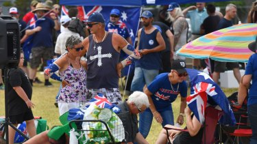 Patriots at an Australia Day barbecue in St Kilda.