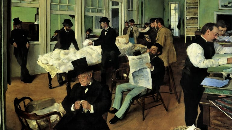 Edgar Degas' A Cotton Office in New Orleans.