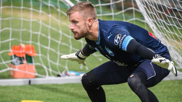 Thou shalt not pass: Sydney FC keeper Andrew Redmayne.