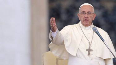 Pope Francis at the Convention of Rome Diocese at St Peter's square on Sunday.