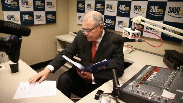 Social Services Minister Scott Morrison hits the airwaves on Monday.