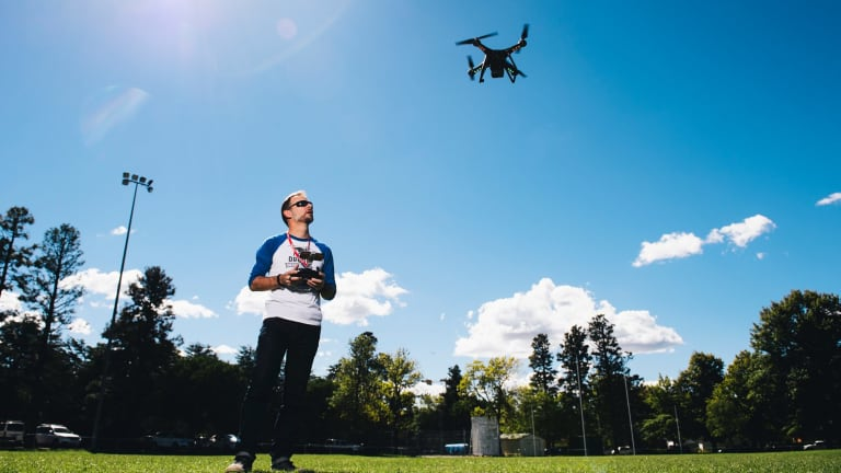 Mark Will runs courses on drone flying and safety.