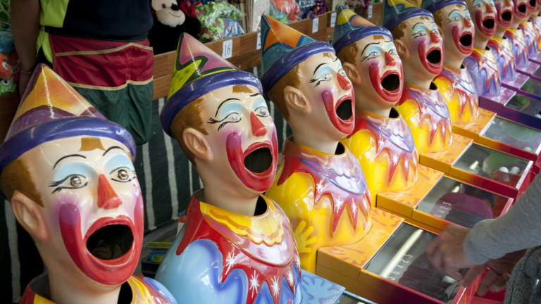 No more cigarettes for these clowns... the Ekka goes smoke-free from 2015.