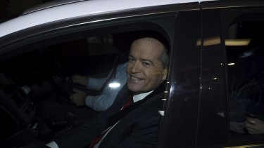 Opposition Leader Bill Shorten arrives at royal commission on Wednesday.