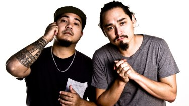 Music producer James Mangohig (left) and rapper Joel Ma star in In Between Two.