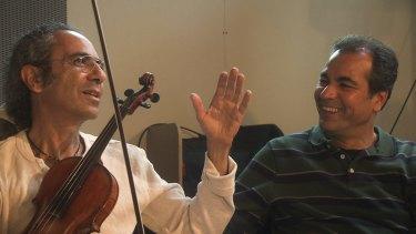 Yair Dalal and Majid Shokor, who is the subject of the documentary by Marsha Emerman.