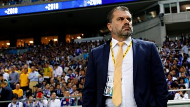 Ange Postecoglou's Socceroos will play Syria in Sydney.