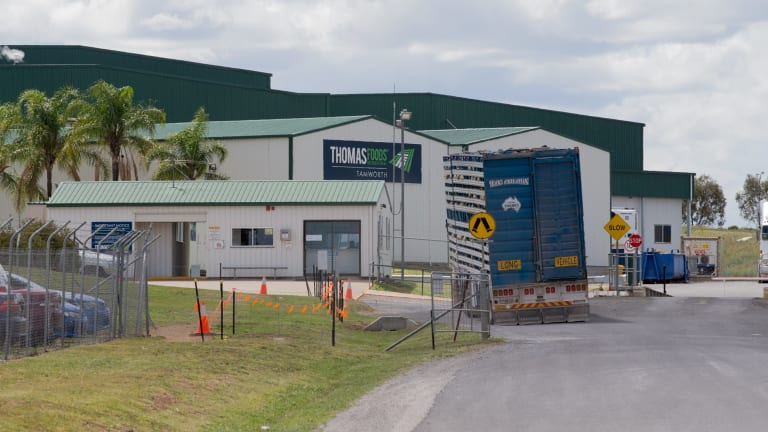 Thomas Foods is one of the largest meat suppliers to Woolworths, Coles and Aldi.