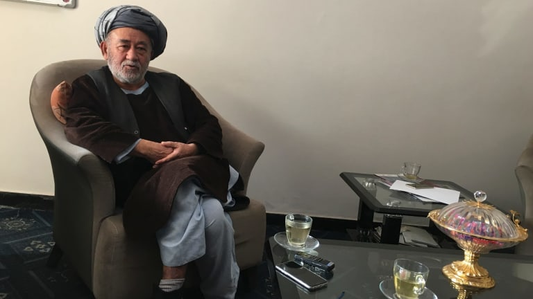 Ahmad Ishchi in Kabul, Afghanistan, on December 13. He accuses his rival, the country's Vice-President of assault and rape.