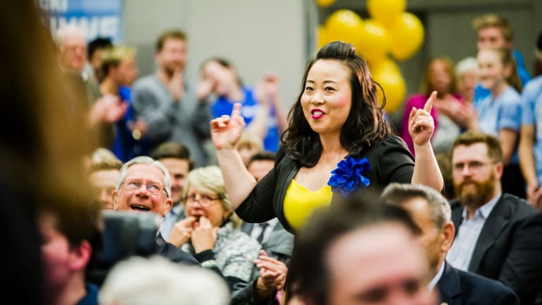 The Canberra Liberal Campaign Launch. Candidate for Kurrajong Elizabeth Lee.
