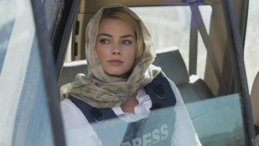 """""""You hear the important people talking about her,"""" Peacocke says about co-star Margot Robbie who plays Tanya Vanderpoel."""
