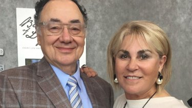Barry and Honey Sherman pose for a photo in Toronto, Canada, in October.