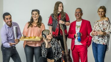 Canberra's reality TV stars Jason Roses (Big Brother), Anna Petridis (My Kitchen Rules), Amber Nichols (The Voice), Callum McPhie (Australia's Got Talent), Pete Fiegehen (Survivor) and Ali King (Zumbo's Just Desserts).
