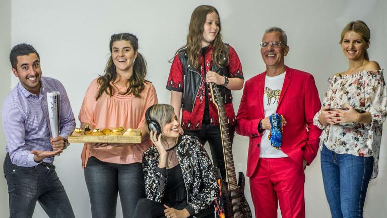 Canberra's reality TV stars Jason Roses (Big Brother), Anna Petridis (My Kitchen Rules), Amber Nichols (The Voice), Callum McPhie (Australia's Got Talent), Pete Fiegehen (Survivor) and Ali King (Zumbo's Just Desserts).