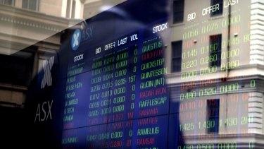 The Australian sharemarket hit a four-week high on Wednesday.