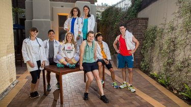 Notre Dame Medical students Sarah Lorger, Byron Chionh, Manuela Vancea, Brittany Cash, Alex Mullin, Dennis Nguyen and Gavin Levy are raising money for medical services in the Philippines.