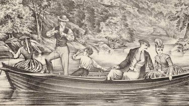 A sketch of early settlers in Port Jackson.