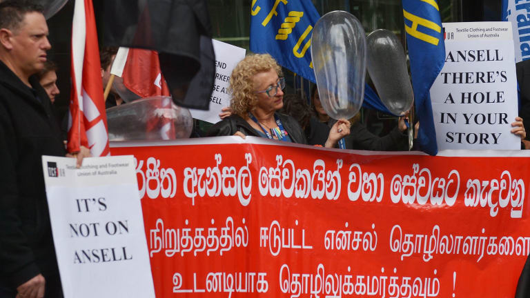 Almost 300 workers have been sacked at an Ansell factory in Sri Lanka.