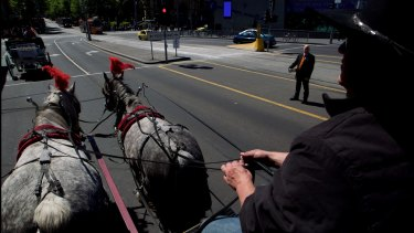 Lord Mayor Robert Doyle wants to move the horse and carriages out of Swanston St and further down St Kilda Rd.