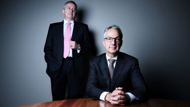 Macquarie Group chief executive Nicholas Moore, right, and chief financial officer Patrick Upfold have overseen the bank's transition.