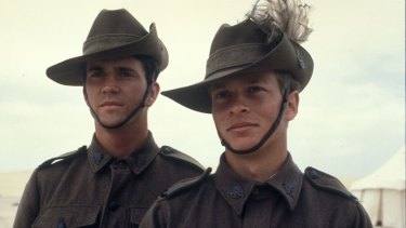 Mel Gibson and Mark Lee in the seminal 1981 film Gallipoli.