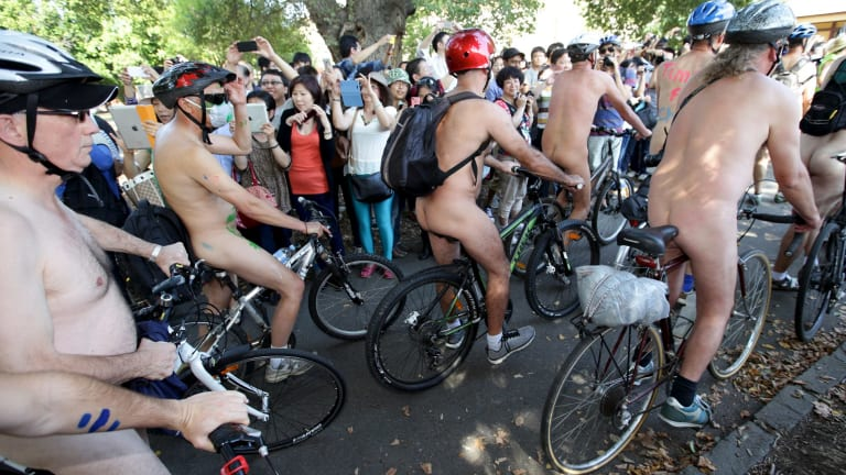 The nude bike ride has proved popular in past years.