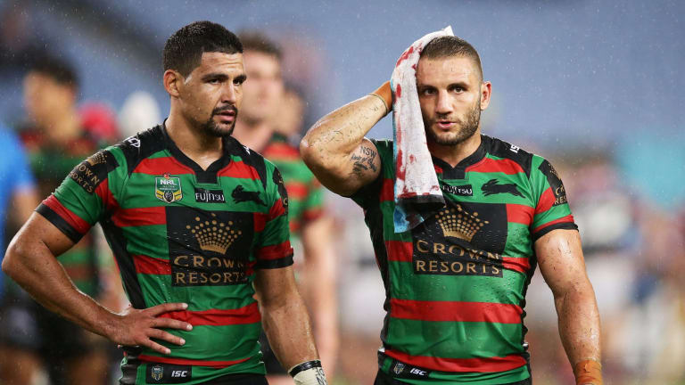 Busted: Robbie Farah (right).