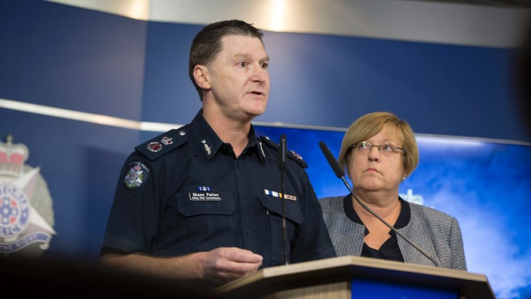 Victoria Police acting Chief Commissioner Shane Patton speaks to the media about the perceived threat of African youth crime.