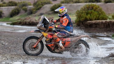 Australia's Toby Price is now fourth overall in the motorbike section of the Dakar Rally.