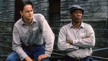 Tim Robbins and Morgan Freeman in The Shawshank Redemption.