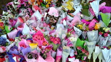 A sea of flowers has been placed at the reserve where Masa Vukotic died.