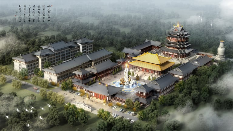 Grand scale: The $500 million theme park, which would replicate Beijing's Forbidden City, proposed for the central coast.