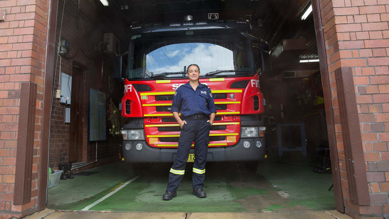 Firefighter Tara Lal, at Woollahra Fire Station, has written about her brother's suicide.