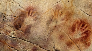 The 'Panel of Hands' stencils in the El Castillo Cave, Spain, are believed older than 40,800 years.