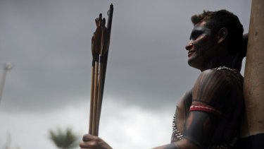 A Brazilian Amazon Indian in 2013. Researchers have agreed on an ancient connection between Australia, Asia and the Americas.