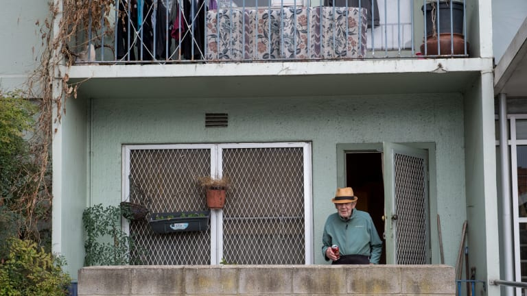 Housing commission flats in Noone st, Clifton Hill, will be demolished. Davo and the other residents will be relocated.